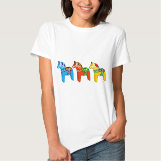 Swedish Dala Horses Tee Shirt