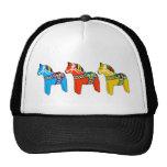 Swedish Dala Horses Trucker Hats