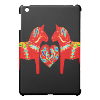 Swedish Dala Horses w Heart  Cover For The iPad Mini