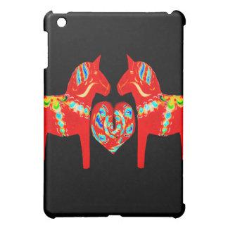 Swedish Dala Horses w Heart  Cover For The iPad Mini