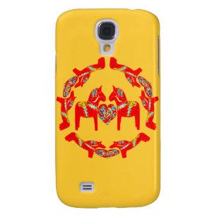 Swedish Dala Horses w Hearts 3G/3GS  Galaxy S4 Case