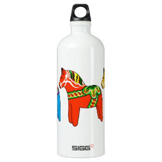 Swedish Dala Horses Water Bottle