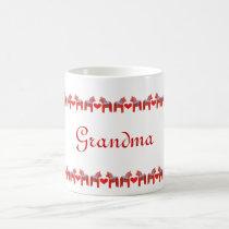 Swedish Dala Horses with Hearts Personalized Coffee Mug