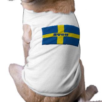 Swedish Doggie with Custom Name T-Shirt