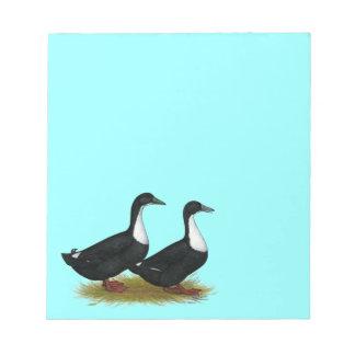 Swedish Ducks Black Scratch Pad
