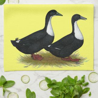 Swedish Ducks Black Towel