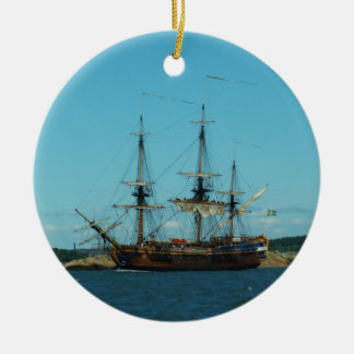 Swedish East Indiaman Ceramic Ornament