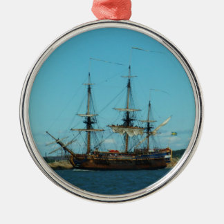 Swedish East Indiaman Metal Ornament