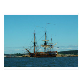 Swedish East Indiaman Postcard