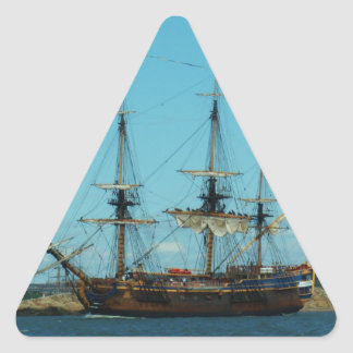 Swedish East Indiaman Triangle Stickers