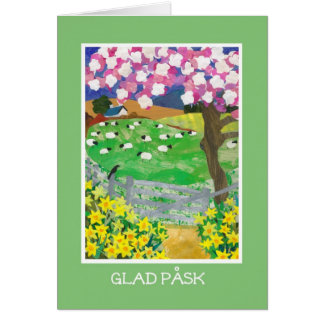 Swedish Easter Card with Countryside in Spring