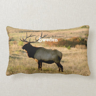 Swedish Elk Throw Pillow