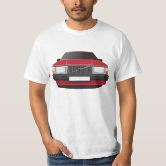 Swedish family car from 80's - 90s, red t-shirts