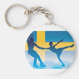 Swedish Figure Skaters Keychain