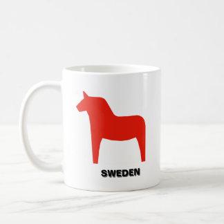 Swedish Flag and Dalahäst Classic White Coffee Mug