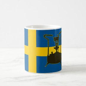 Swedish flag and Paraffin pressure stove Mugs