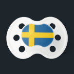 """Swedish flag baby pacifier 