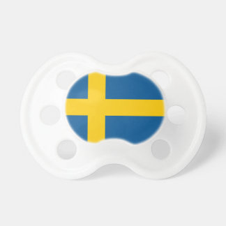 Swedish flag baby pacifier | Cute baby shower gift