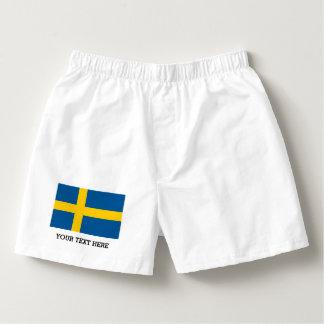 Swedish flag boxer shorts underwear for men