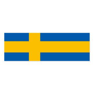 Swedish Flag Business Card Template