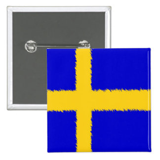 Swedish Flag Buttons