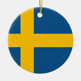 Swedish Flag Ceramic Ornament