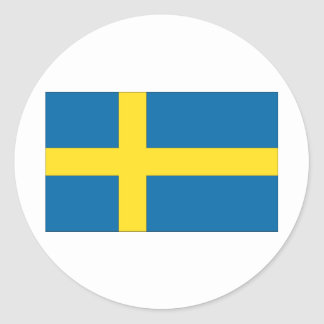 Swedish Flag Classic Round Sticker