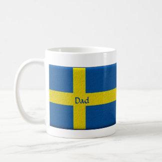 Swedish Flag Dad or Custom Name Coffee Mug