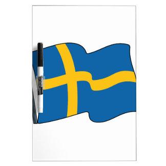 Swedish Flag Dry-Erase Board