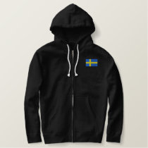 Swedish Flag Embroidered Hoodie