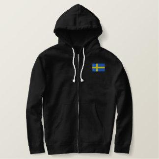 Swedish Flag Embroidered Hoodie