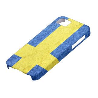 Swedish Flag Grunge Distressed iPhone 5 Covers