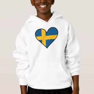 Swedish Flag Heart Hoodie