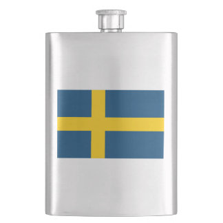 Swedish Flag Hip Flask