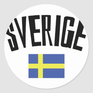 swedish flag icon classic round sticker