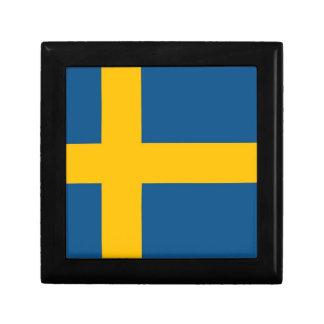 Swedish Flag Keepsake Box