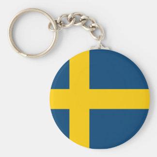 Swedish Flag Keychain