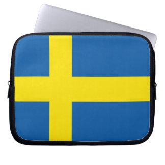 Swedish Flag Laptop Computer Sleeves