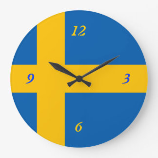 Swedish Flag Large Clock
