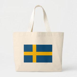 Swedish Flag Large Tote Bag