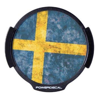 Swedish Flag Led Window Decal by RodRoelsDesign at Zazzle