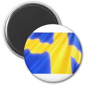 SWEDISH FLAG REFRIGERATOR MAGNET
