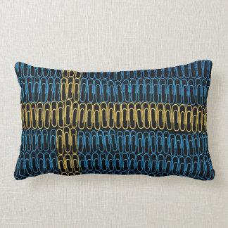 Swedish Flag of Paperclips Lumbar Pillow