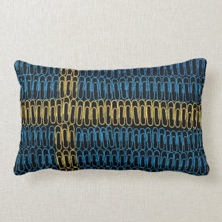Swedish Flag of Paperclips Throw Pillow