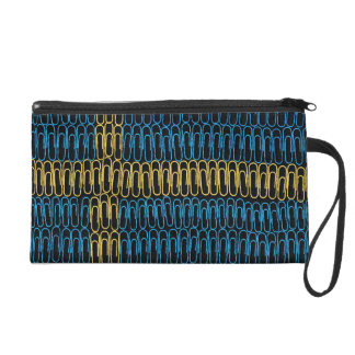 Swedish Flag of Paperclips Wristlet Clutch
