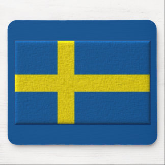 Swedish Flag of Sweden 3D Effect Mouse Pad