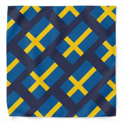 Swedish flag of Sweden pattern bandana