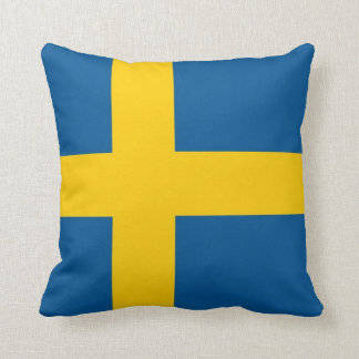 Swedish Flag on American MoJo Pillow