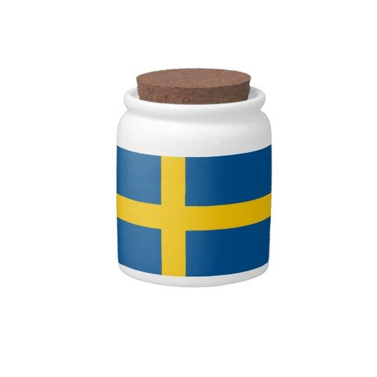Swedish Flag on Candy Jar