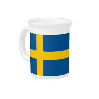 Swedish Flag on Pitcher